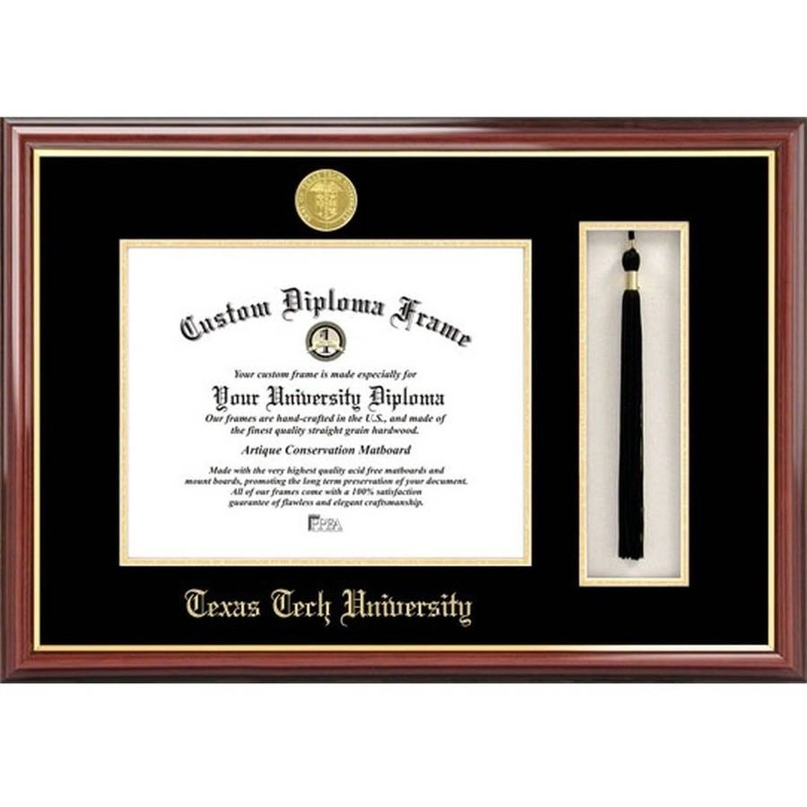 "Texas Tech University 11"" x 14"" Tassel Box and Diploma Frame"