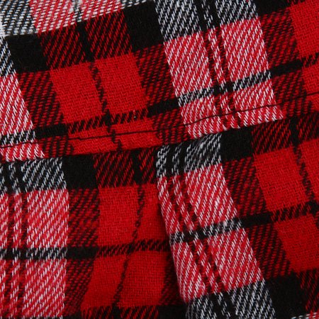 Greensen Material: cotton,New Small Pet Dog Puppy Plaid T Shirt Lapel Coat Cat Jacket Clothes Costume Red M - image 7 of 7