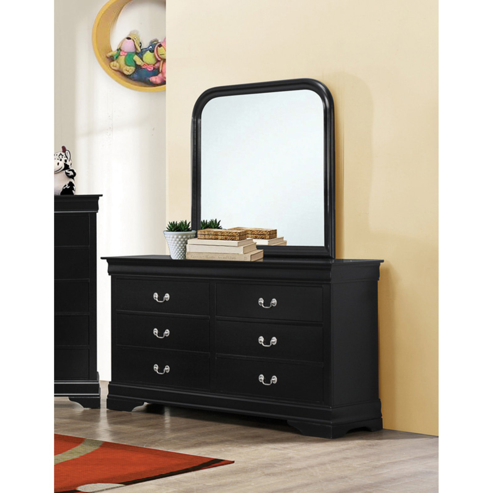 Coaster Company Louis Philippe Dresser, Black (Mirror Sold Separately)