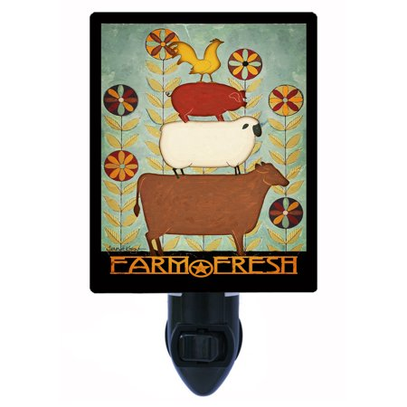 Night Light - Photo Light - Farm Fresh - Cow - Pig - Sheep - Rooster