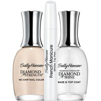 2 Pack - Sally Hansen Diamond Strength French Manicure Pen Kit, Barely There 3 ea
