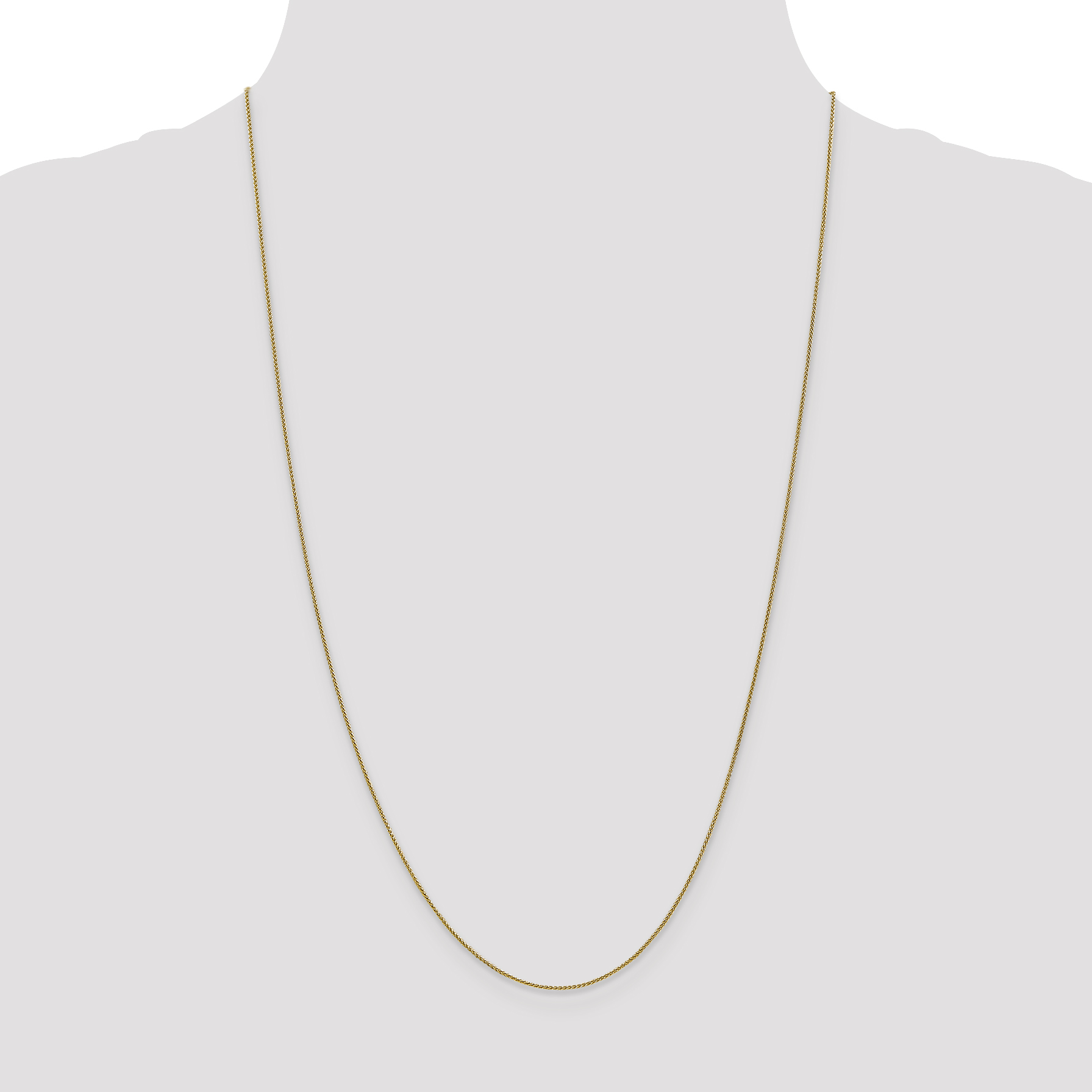 14K Yellow Gold 0.80mm Spiga Pendant Chain 16 Inch - image 3 de 5