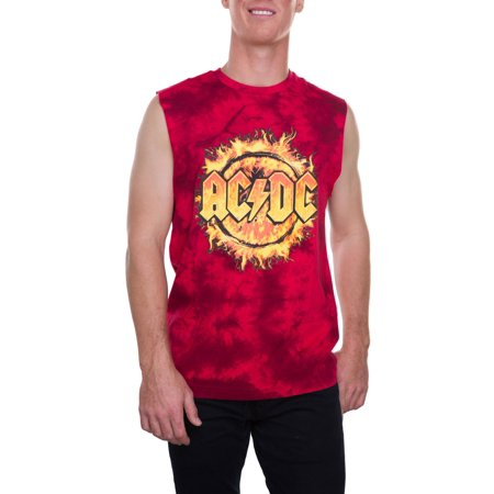 54799d1581e54 Music - AC DC Big Men s Flames Logo Tie Dye Muscle Tank Top
