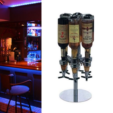 Liquor Dispenser,6 Bottle Shot Alcohol Dispenser Station Liquor Decanters Whiskey Alcohol Shot Beverage Bar Party](Halloween Party Liquor Drinks)