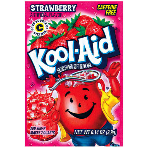 Kool-Aid Unsweetened Strawberry Flavored Drink Mix, .14 Oz