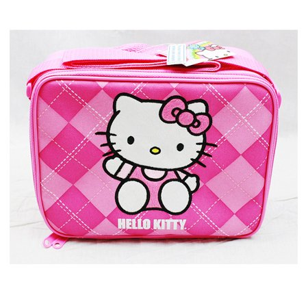 Bags Hello Kitty (Lunch Bag - Hello Kitty - Pink Checker New Case Girls Gifts Licensed)