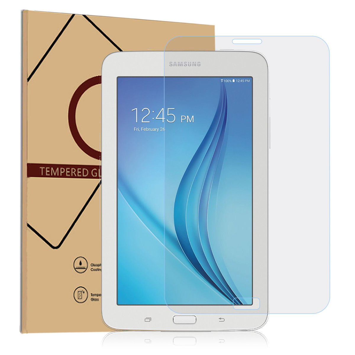 """2x Tempered Glass Screen Protector for Samsung Galaxy Tab E 8.0/"""" SM-T377 Tablet"""