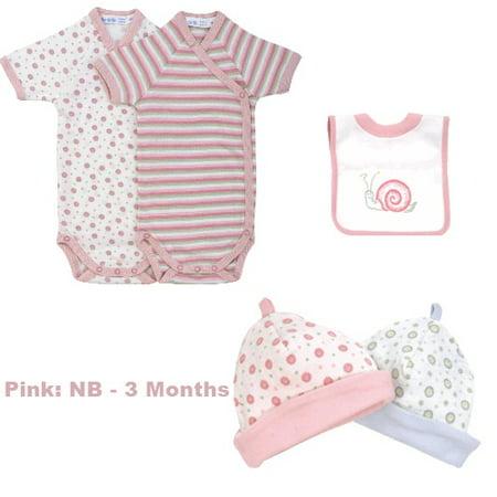 Triple Baby Gift Set - Pink Stripe NB - 3 Months
