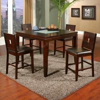Bundle-75 Alpine Furniture Lakeport Dining Set (7 Pieces)
