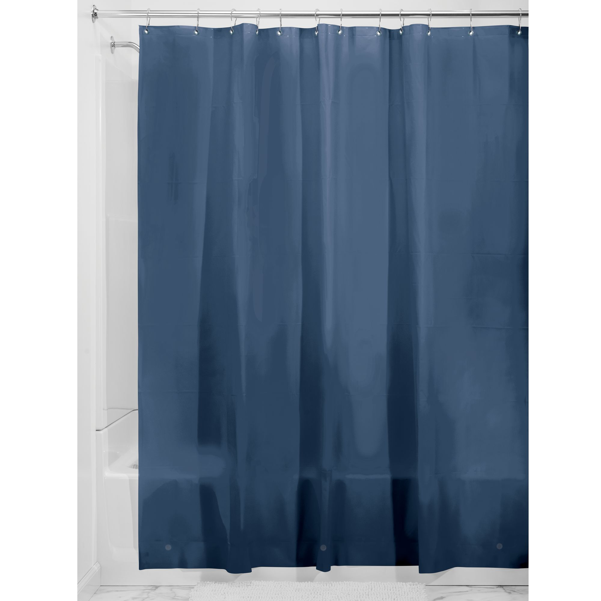 "InterDesign PEVA 3 Gauge Shower Curtain Liner, Stall 54"" x 78"", Frost"