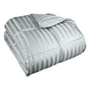 Impressions Fonda Classic All-Season Microfiber Polyester Reversible Striped Down Alternative Comforter