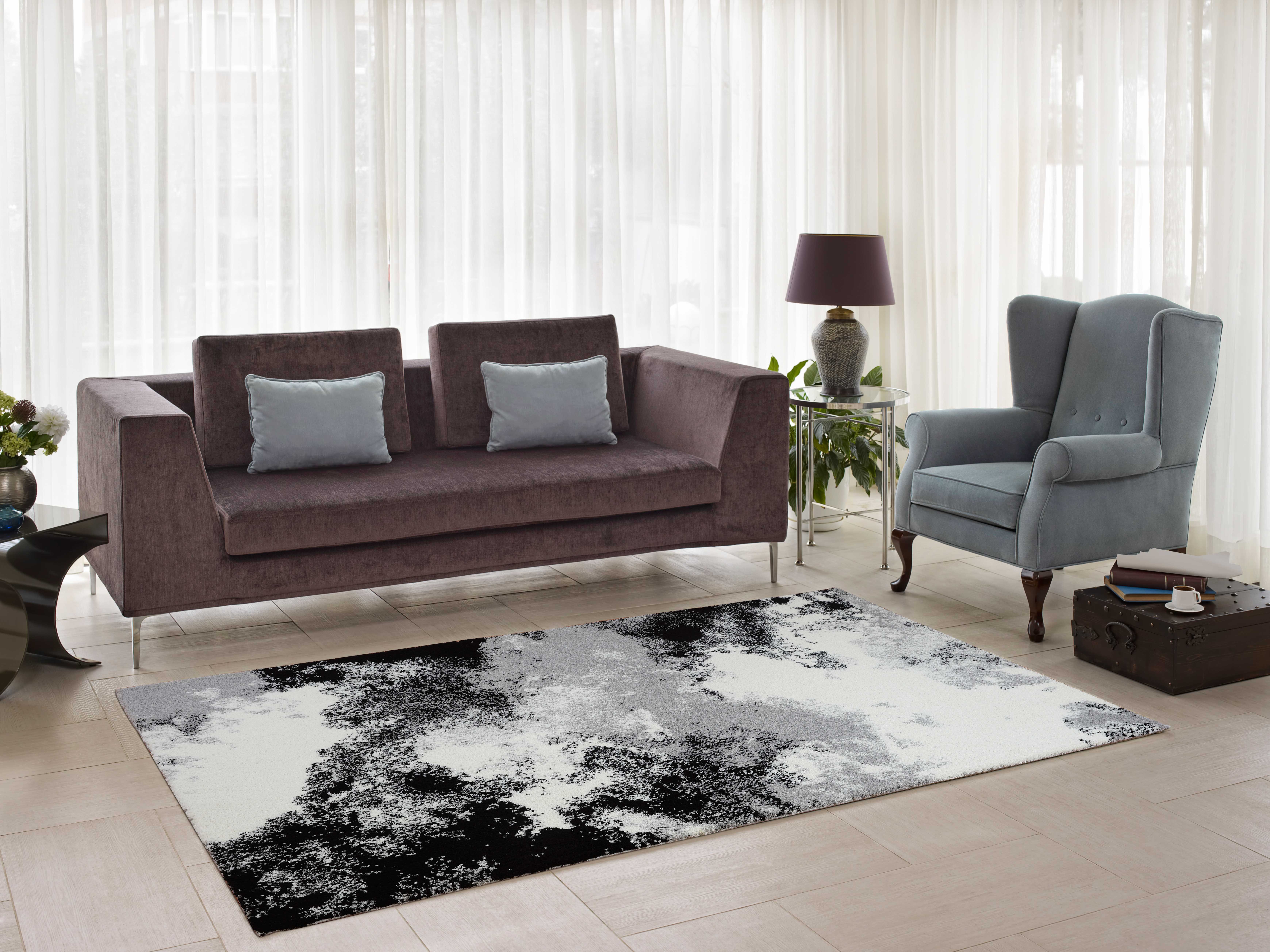 Area Rug On Carpet Living Room With Ladole Rugs Comfortable Stylish Soft Smooth Indoor Modern Abstract Area Rug Carpet For Dining Room Living