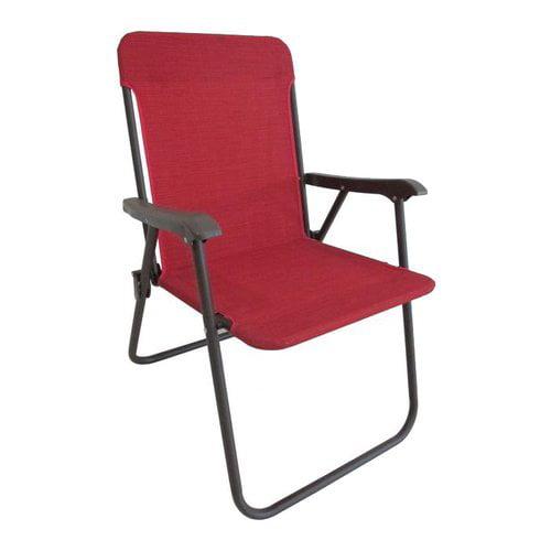 Mainstays Fabric Folding Chair Red Walmart Com