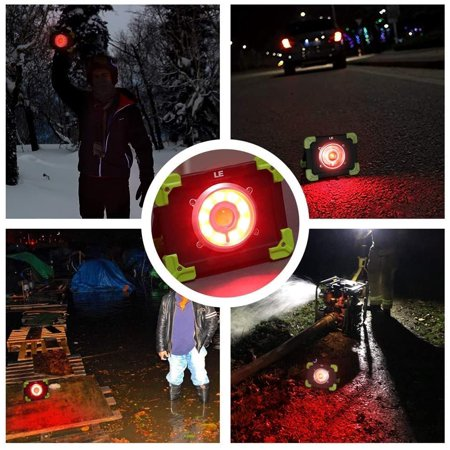LE Portable LED Work Light, 20W, Rechargeable Outdoor Flood Light, 6000mAh Power Bank for Hiking, Working, Car - image 3 de 5