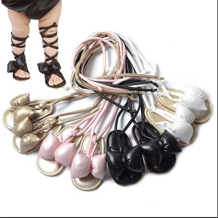Roman Sandals (Newborn Toddler Infant Summer Baby Girls Sandals Roman Shoes Big Butterfly Beach)