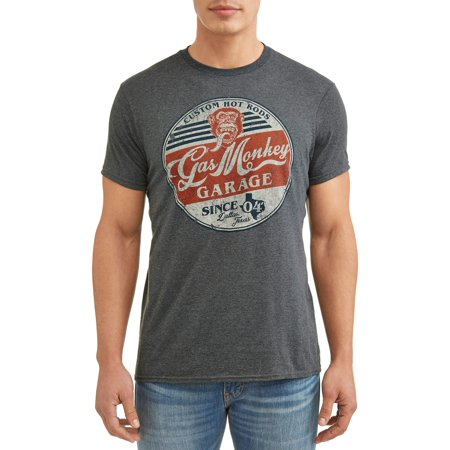 Men's Gas Monkey Can Round Logo Short Sleeve Graphic T-Shirt
