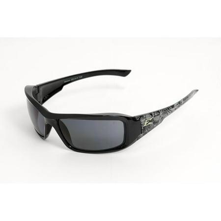 Edge Eyewear Brazeau Polarized Black Skull Smoke Lens TXB216S