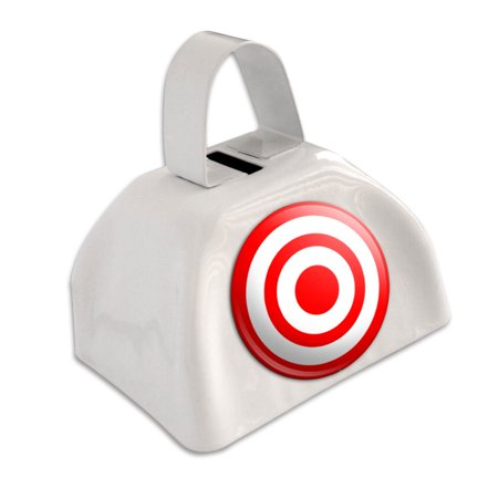 Cow Eye - Target Bullseye White Cowbell Cow Bell