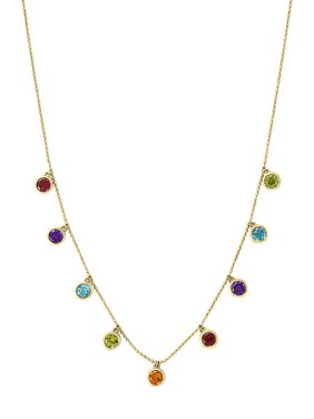 14K Yellow Gold & Multi-Stone Necklace