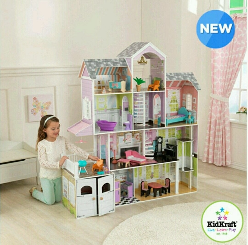 KidKraft Grand Estate Dollhouse + 26 Pieces of Furniture by KidKraft