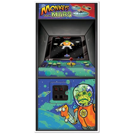 Club Pack of 12 80's Themed Arcade Game Door Cover Party Decorations 5'](80's Themed Birthday Party)