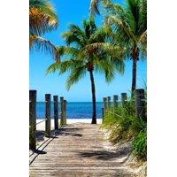 Boardwalk on the Beach - Key West - Florida Coastal Coast Ocean Photo Print Wall Art By Philippe Hugonnard
