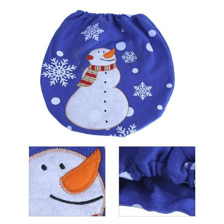 Peachy 3Pcs Lovely Christmas Snowman Toilet Seat Cover Rug Set Toilet Seat Cover Set Home Bathroom Festive Decoration Pabps2019 Chair Design Images Pabps2019Com