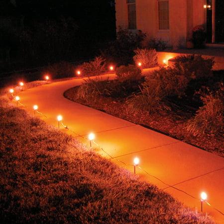 Orange Halloween Lights Home Depot (LumaBase Electric Pathway Lights- Orange, 10)
