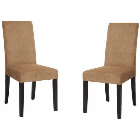 Armen Living Tobacco Color Side Chair, Set of 2