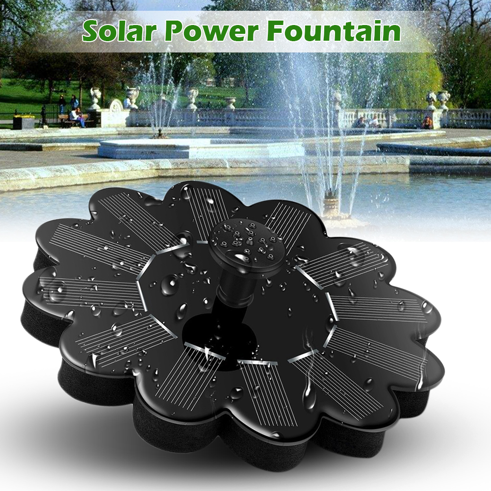 Solar Fountains,1.2W Solar Outdoor Water Fountain Panel Kit for Bird Bath,Small Pond,Garden and Lawn