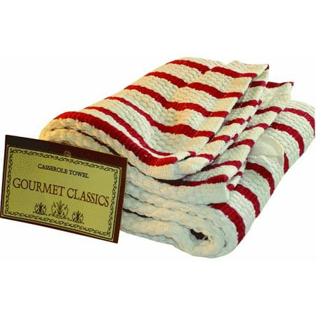 Green Bean Casserole Dish - Harold Import Company Oversized Striped Kitchen Towel, Red and White