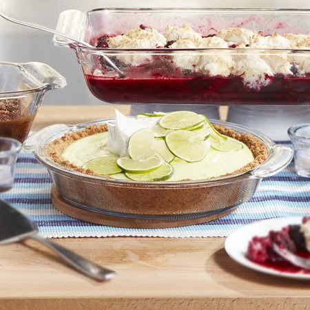 Libbey Baker's Premium 2-Piece Glass Deep Pie Plate Set, 9-inch