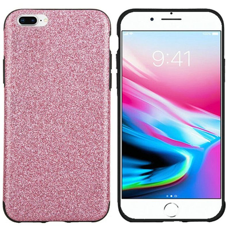 Apple iPhone 7 Plus/8 Plus Case, by Insten Glittering TPU Rubber Candy Skin Case Cover For Apple iPhone 7 Plus/8 Plus, Black - image 2 of 4