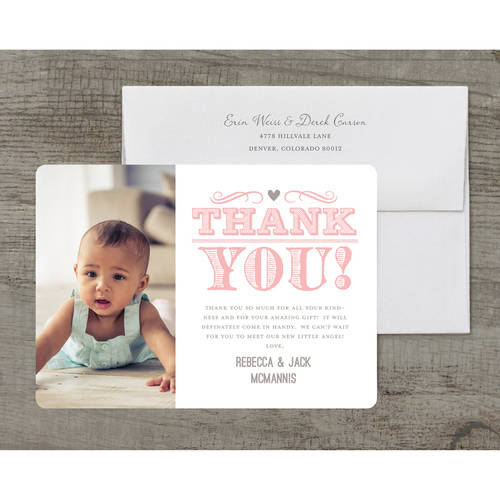 A Baby is Brewing Deluxe Baby Thank You Card