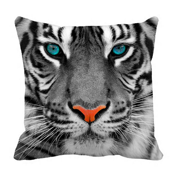 phfzk animal pillow case the eyes of white tiger king pillowcase throw pillow cushion cover two sides size 20x20 inches