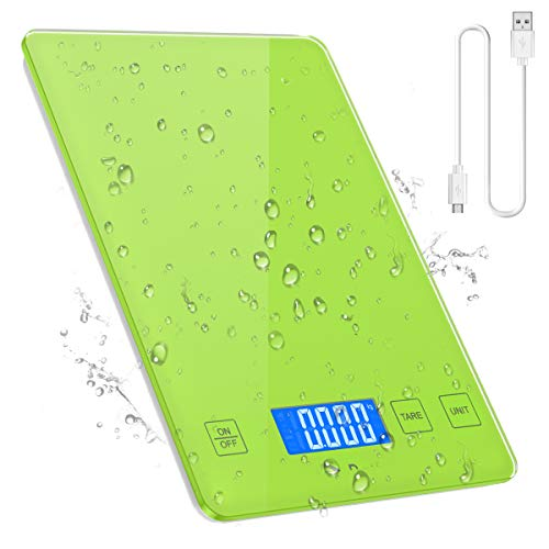 Oria Kitchen Scale Digital Food Scale Usb Rechargeable And With Waterproof Glass Body Kitchen Weighing Scale High Accuracy Multifunctional Food Scale Target In Grams Ounces And Li Walmart Com Walmart Com