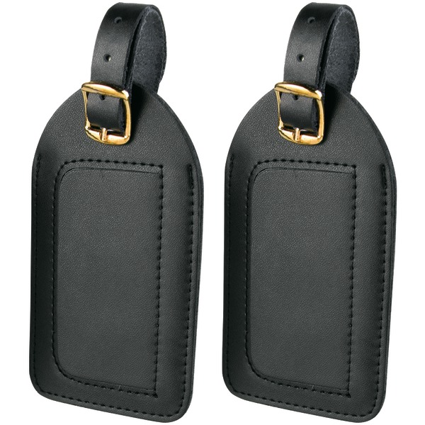 Travel Smart by Conair Brand New LEATHER LUGGAGE TAGS 2 PK