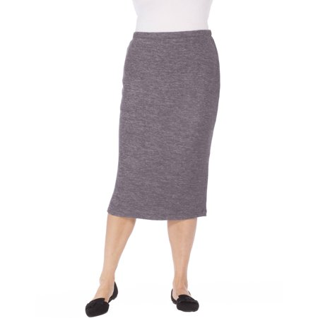 Plus Moda Women's Plus Knit Skirt - Plus Size Hippie Skirts