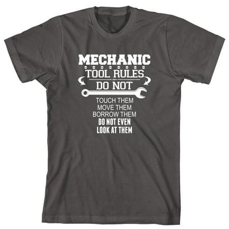Mechanic Tool Rules Men's Shirt - ID: 1686 Live Mechanics Clothes