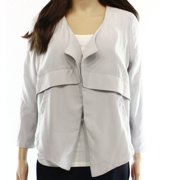 Valette NEW Solid Light Gray Women's Size XS Open-Front Pocketed Jacket