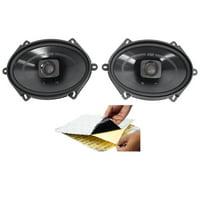 "(2) Polk Audio DB572 5x7"" 225w Car Audio ATV/Motorcycle/Boat Speakers + Rockmat"