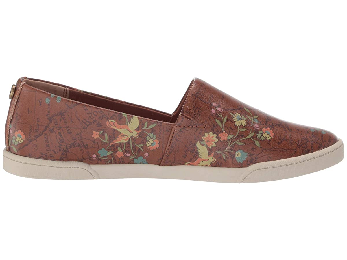 Patricia Nash Women Lola Floral Digital Print Leather Slip On Loafers Shoes 8 M