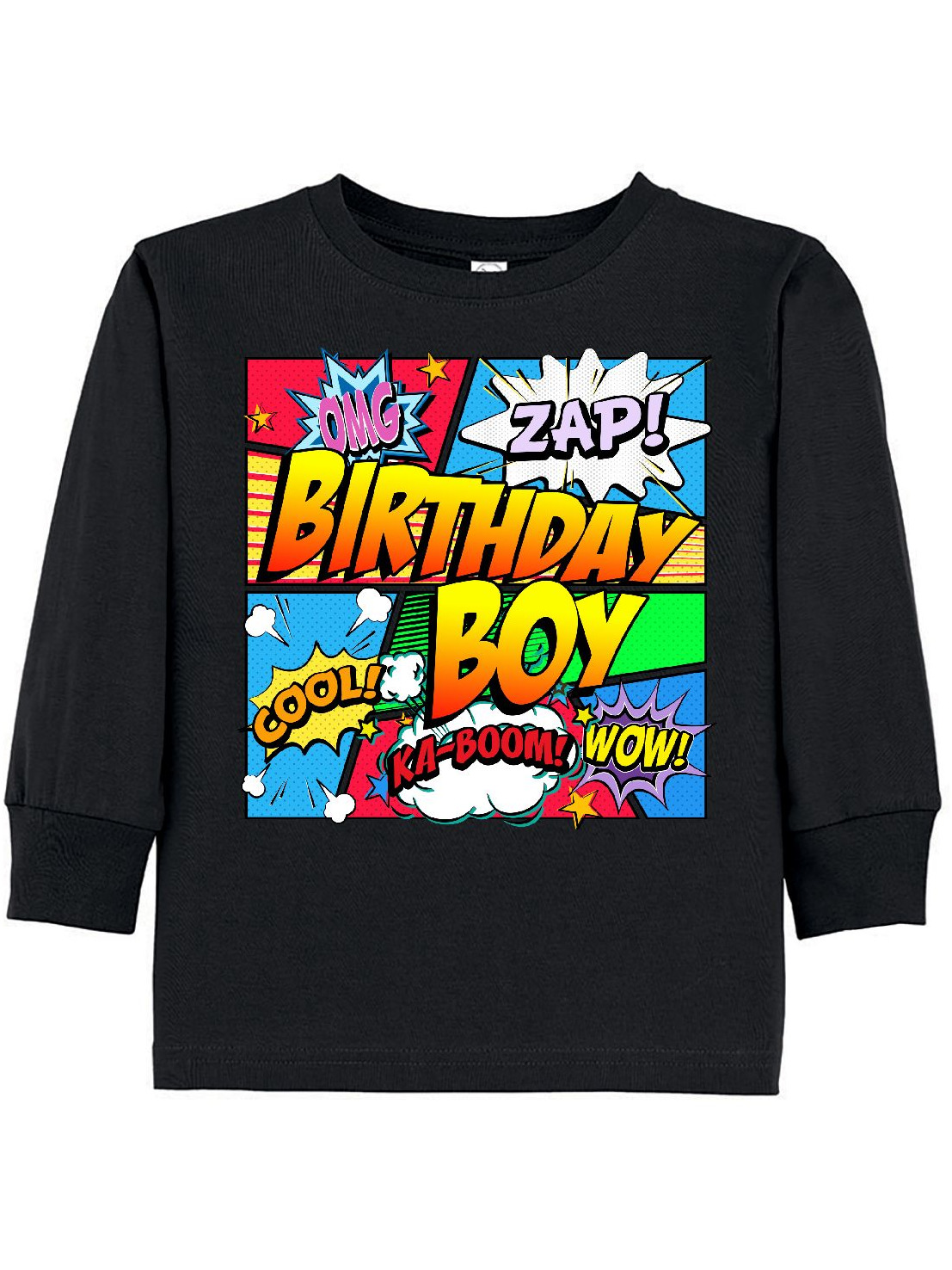 Birthday Boy Comic Book Toddler Long Sleeve T Shirt