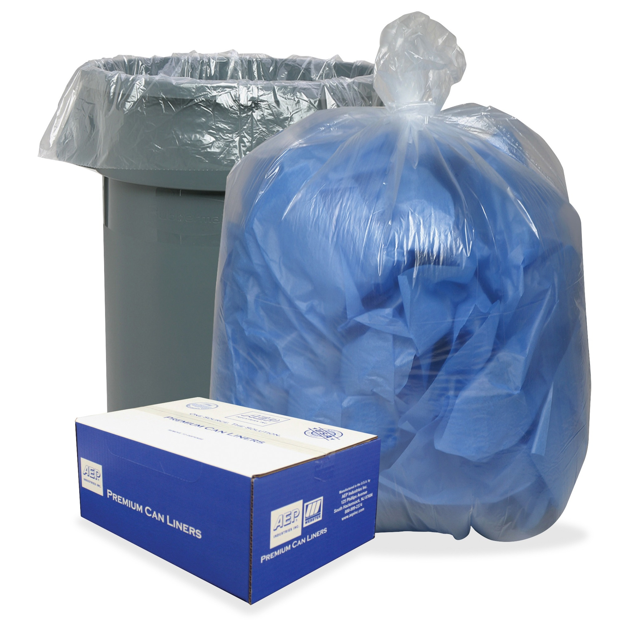 """Webster 0.8 Mil Heavy-duty Low-density Liners - 60 Gal - 38"""" X 58"""" - 0.80 Mil [20 Micron] Thickness - Low Density - 100/carton - Clear, Translucent (385822c)"""