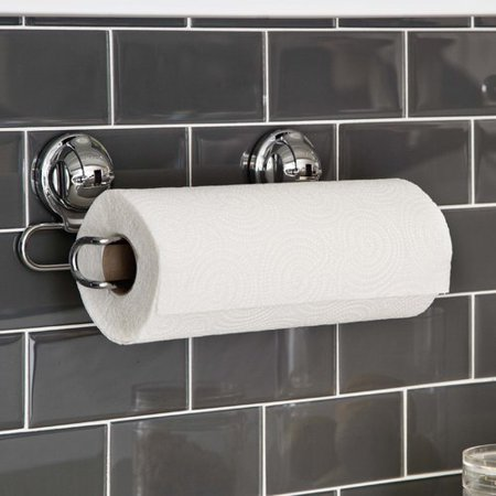 Feca Stainless Steel Wall Mount Paper Towel Holder With Ful Suction Cup
