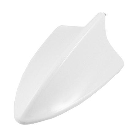 Unique Bargains Unique Bargains White Plastic Shark Fin Design Ornament Antenna for Car
