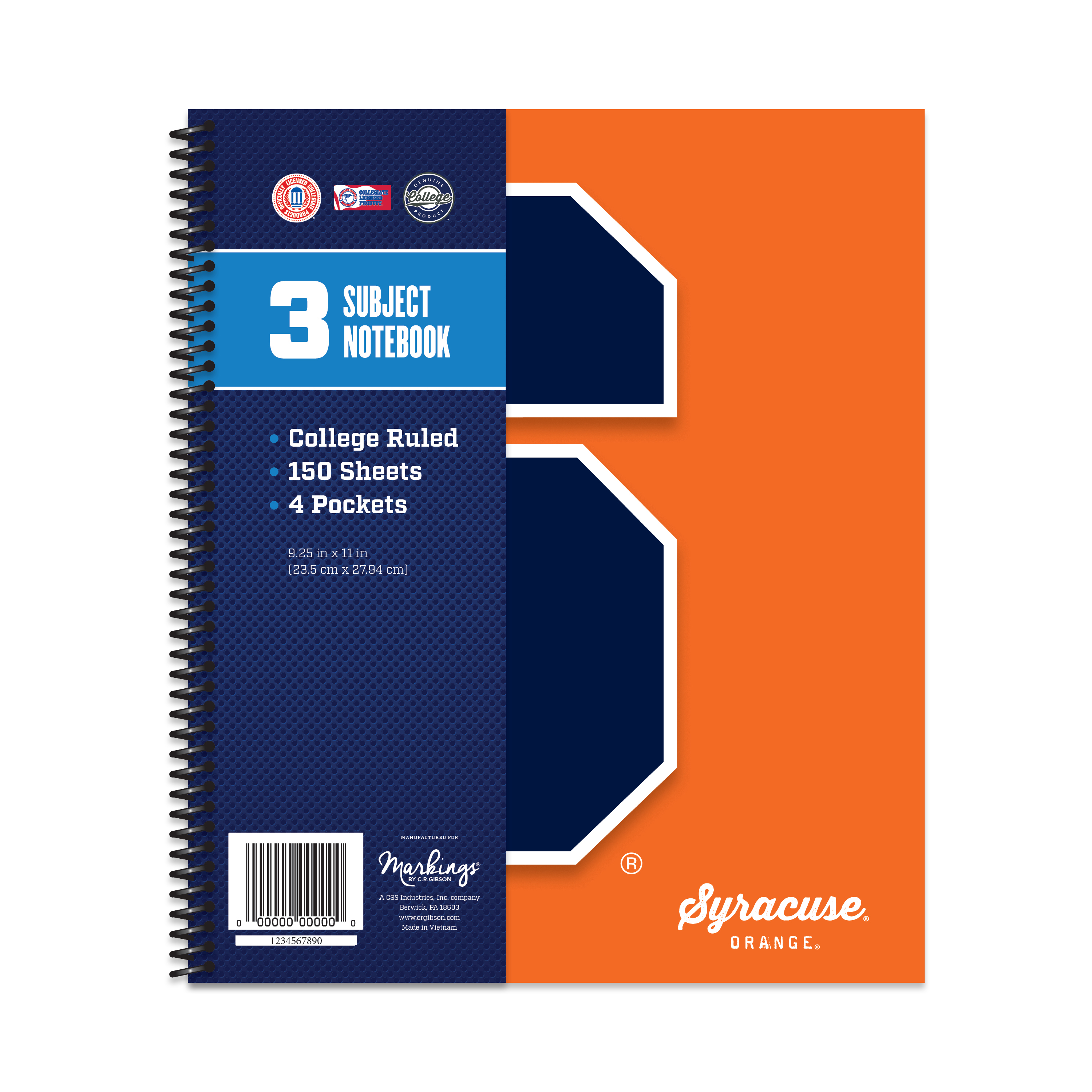 SYRACUSE ORANGE CLASSIC 3-SUBJECT NOTEBOOK