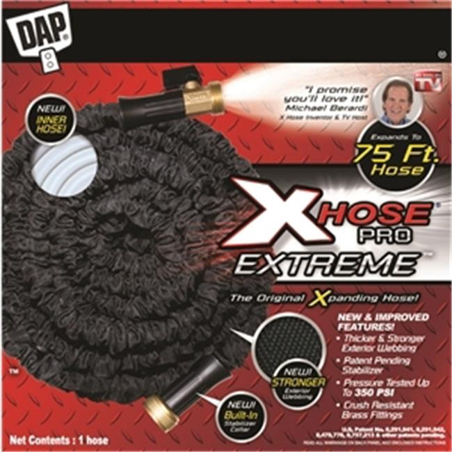 Dap Products Inc 09075  Pro Expanding Hose, Black - 75 ft.