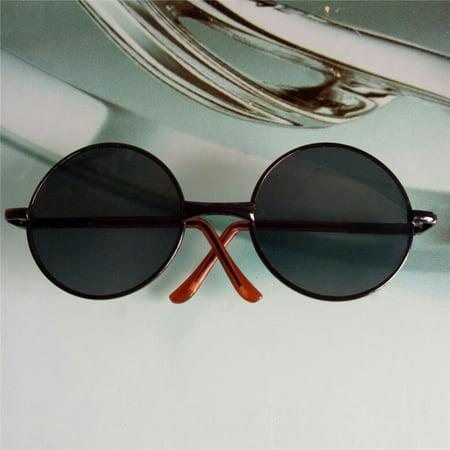 Doll Mini Stylish Metal Frame Sunglass Storage Box for 18 Inch Doll Black + black 1 8 Inch Mini Jack