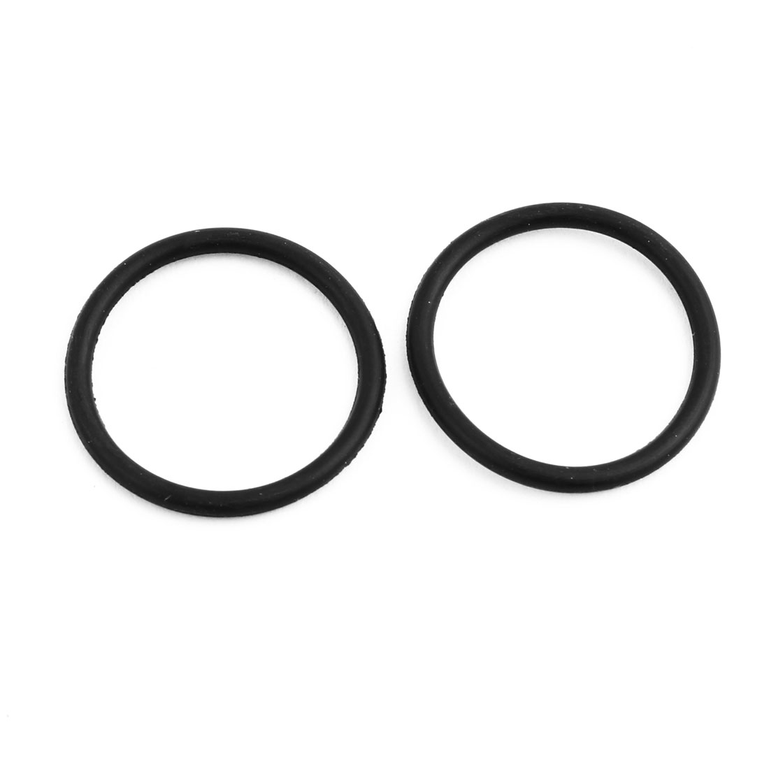 20Pcs Black 24mm Dia 2mm Thickness Nitrile Rubber O Ring NBR Sealing Grommets